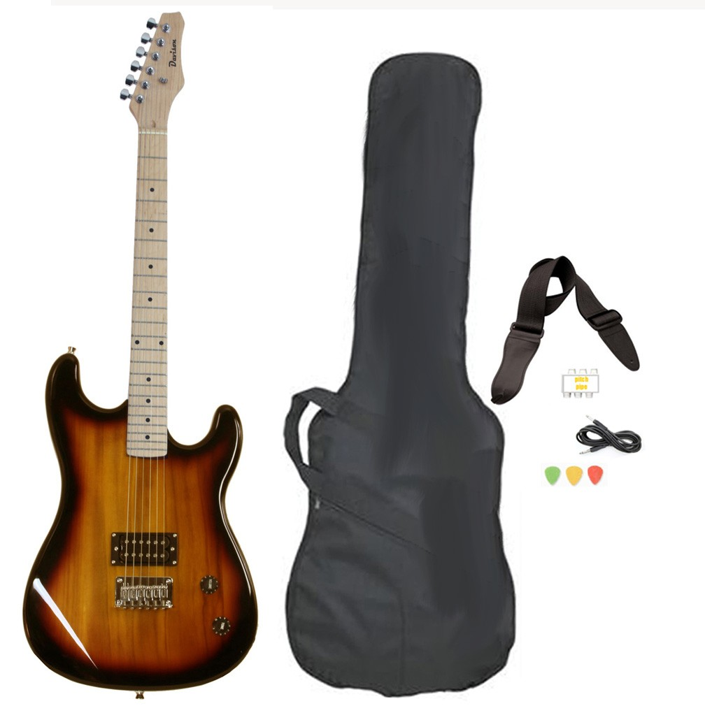 Davison Guitars Electric Guitar Vintage Sunburst Full Size With Case Cord And Picks by