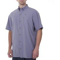 Spiderwire Men's Short Sleeve Zippered Pocket Performance Fishing Shirt