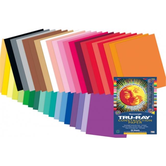 Pacon PAC6597 Tru Ray Hot Assorted Fade Paper, 12 x 18