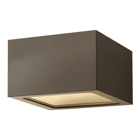 Outdoor Wall Sconces 1 Light With Bronze Etched Lens Extruded Aluminum 6 inch 8 Watts