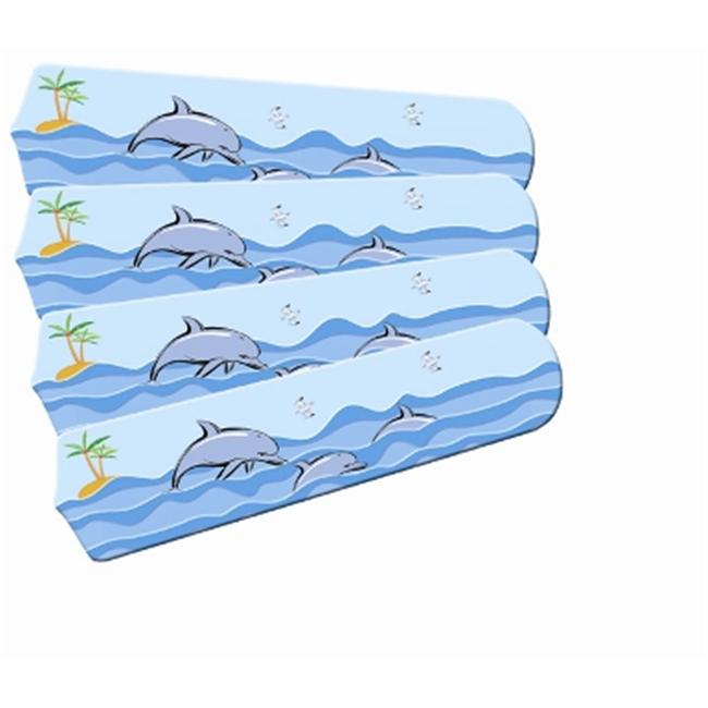 Ceiling Fan Designers 42SET-IMA-KPD Kids Playful Dolphins 42 In. Ceiling Fan Blades Only