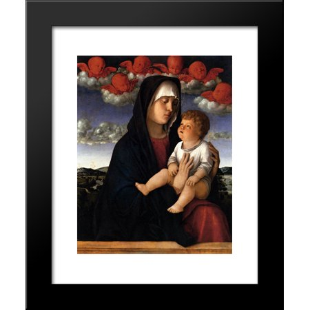 Red Cherubs - The Madonna of the Red Cherubs 20x24 Framed Art Print by Bellini, Giovanni