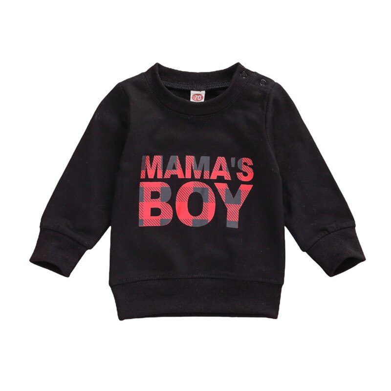Infant Baby Boy Girl Sweatshirt Tops Long Sleeve Letter Print Sweater Crewneck Pullover Shirts Casual Clothes