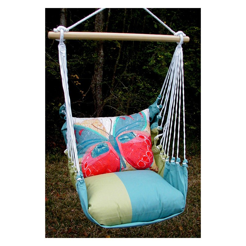 Magnolia Casual Paper Butterfly Hammock Chair and Pillow Set
