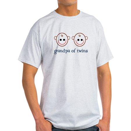 CafePress - Grandpa Of Twins Ash Grey T-Shirt - Light T-Shirt - CP
