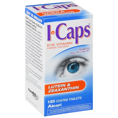 ICaps Lutein & Zeaxanthin Formula, Coated Tablets, 120 ct Advanced Diabetic Formula Tablets