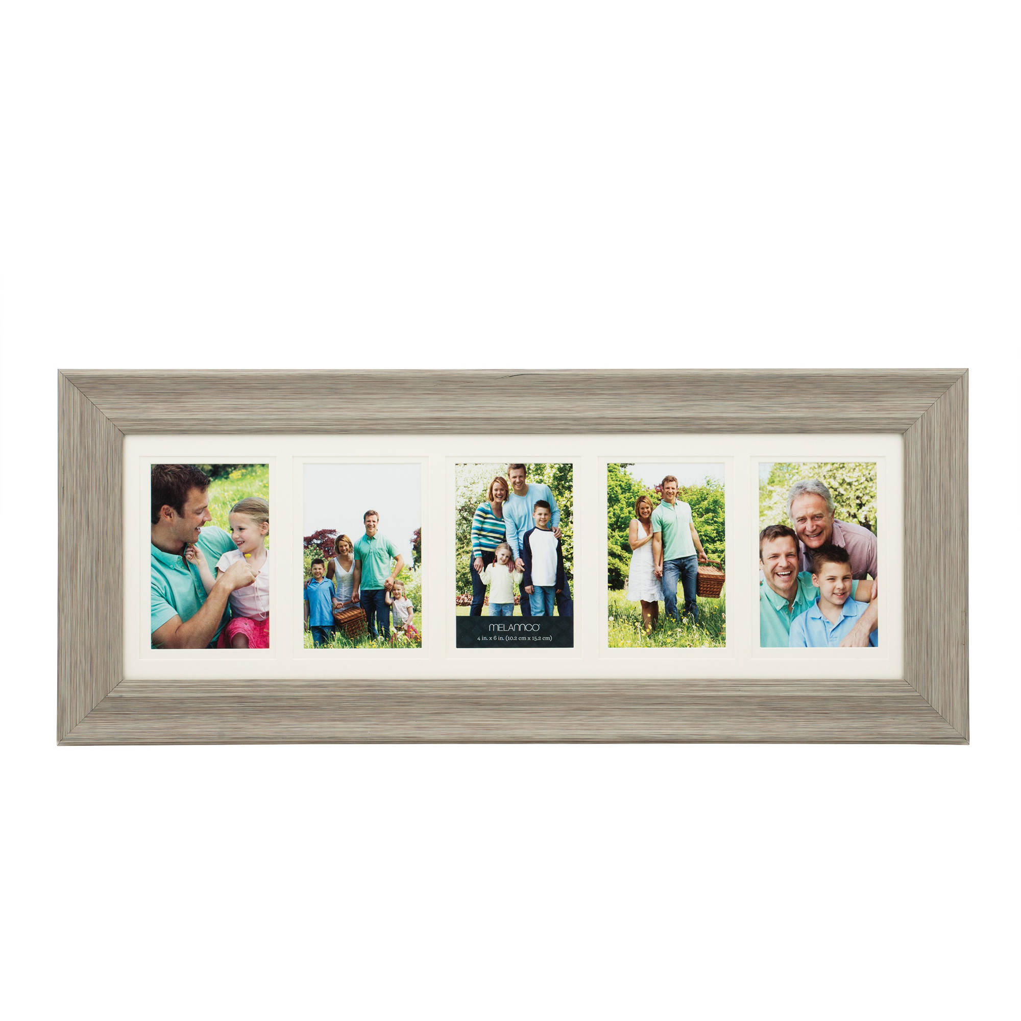 Melannco 5-Opening Double Matted Photo Frame - Walmart.com