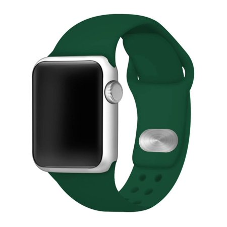 Green Silicone Sport Band for 42mm and 44mm Apple Watch