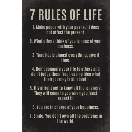 Motivational Poster (7 Rules Of Life, motivational poster print )