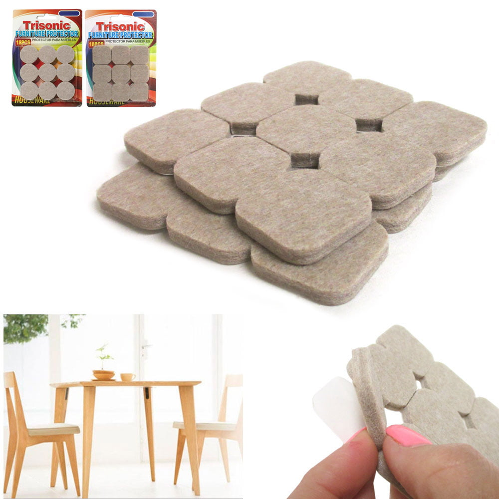 27 pc FURNITURE SCRATCH PROTECTOR PADS SELF ADHESIVE FLOOR WALL CHAIR LEGS WOOD