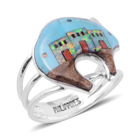 Picture Jasper Cabochon Ring (Promise Ring Silver Turquoise Picture Jasper Southwest Jewelry)