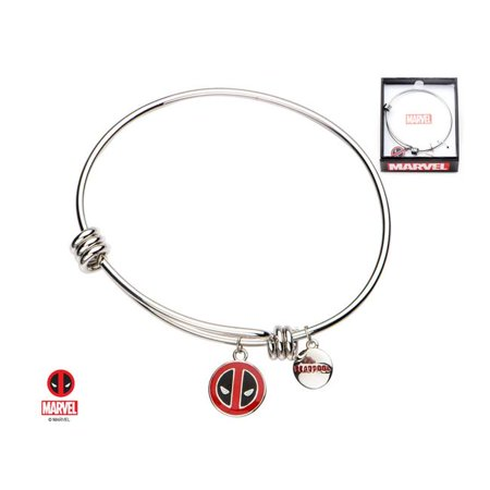 Women's Stainless Steel Deadpool Logo Charm Bangle Bracelet](Deadpool Merchandise)