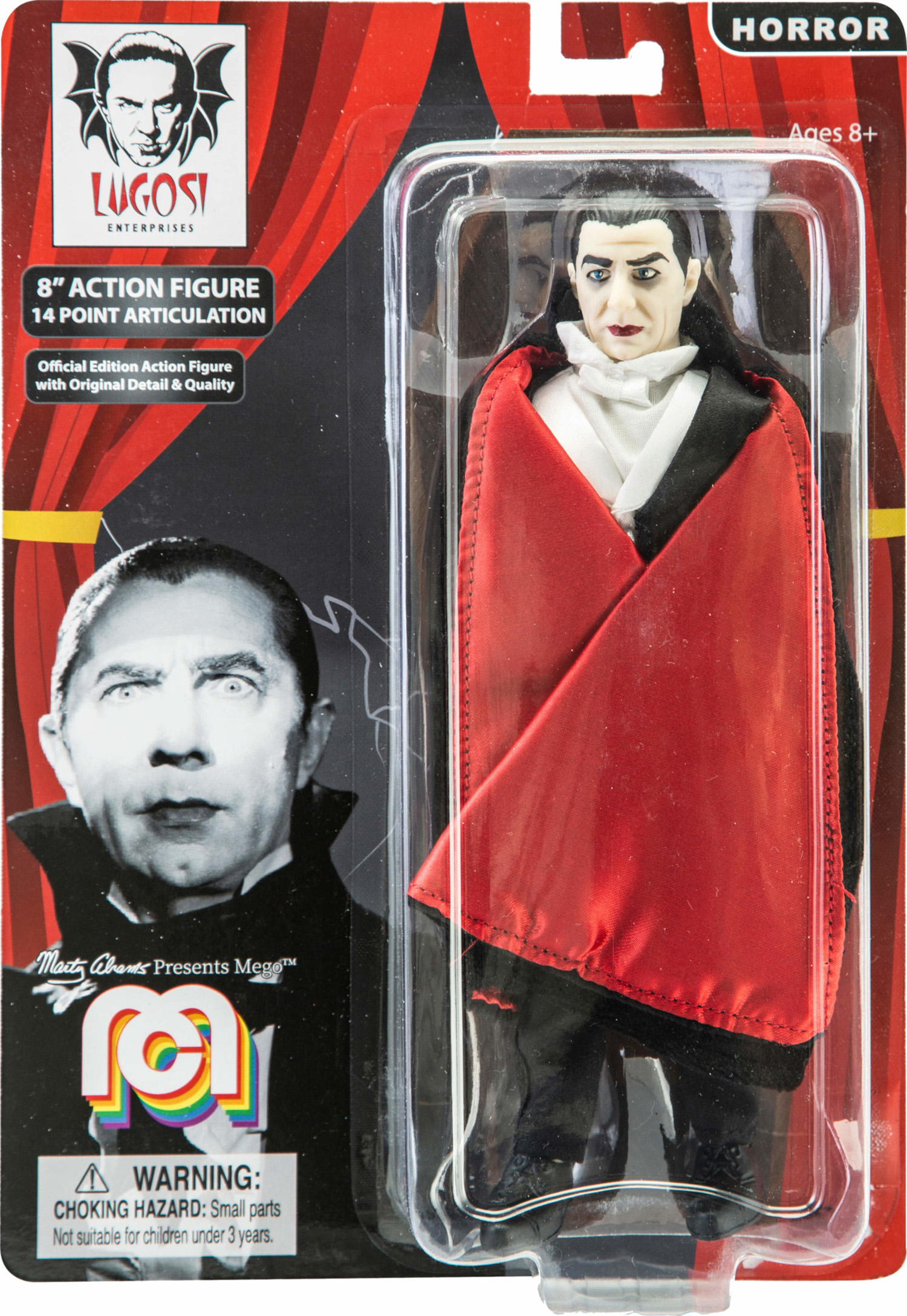 "Mego Action Figure, 8"" Dracula with Red Cape (Limited Edition Collector's  Item)"