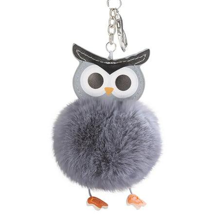 iLH - iLH Mallroom 8CM Cute Owl Keychain Pendant Women Key Ring Holder  Pompoms Key Chains - Walmart.com 631f30f36
