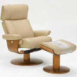 Chair Norfolk Massaging Air Lumbar in Khaki Top Grain Leather Swivel, Recliner with Ottoman By Mac Motion Chairs [Istilo280217]