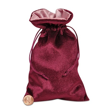 Wine and Rose Satin and Velvet Bags | Quantity: 10 | Width: 5
