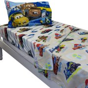 Jay Franco And Sons 12440253 Disney Cars Track Burn Twin-single Bedding Sheet Set