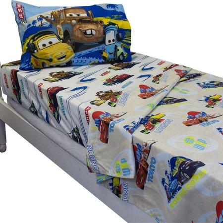 Jay Franco And Sons 12440253 Disney Cars Track Burn Twin Single Bedding Sheet Set