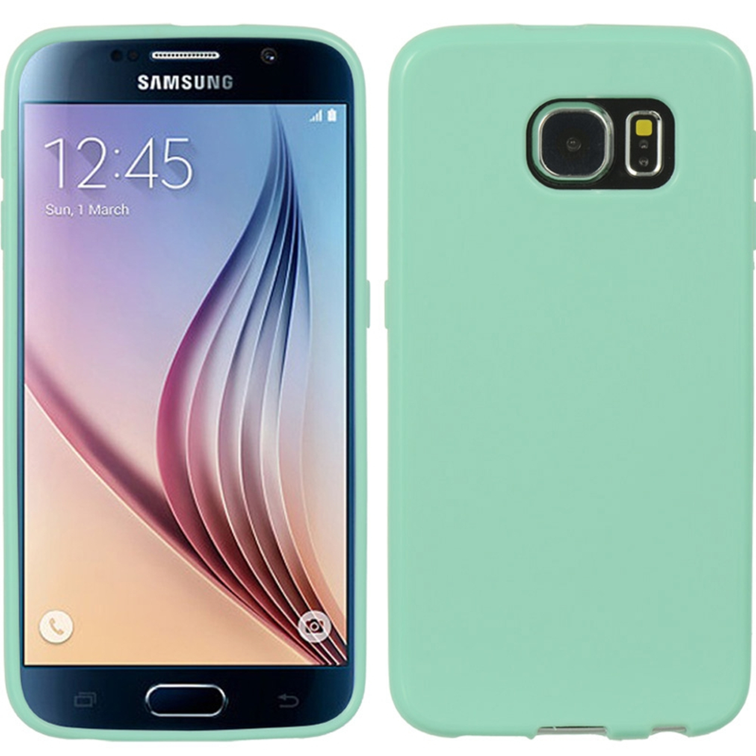 Samsung Galaxy S6 Case, by Insten Crystal Skin Tinted TPU Rubber Skin Gel Case Cover For Samsung Galaxy S6