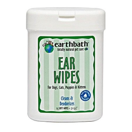 Earth Friendly Natural Pet Cleansing Wipes 25 Ct Choose Ear Eye or Tooth & Gum (Ear)