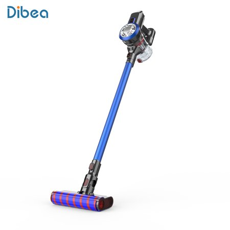 Dibea Cordless Upright Vacuum Cleaner, 2 in 1 Stick and Handheld Car Vacuum with Rechargeable 2200mAh Li-ion Battery and Charging (Best Way To Charge A Car Battery)