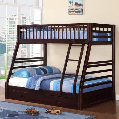 Harriet Bee Izaiah Twin over Full Bunk Bed with Storage