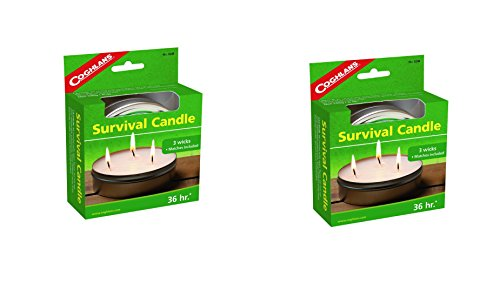 Click here to buy Coghlans 36 HOURS SURVIVAL CANDLE,6 OZ (2 Pack).
