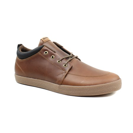 Globe Mens GS Chukka Brown Leather Skateboarding Casual Sneaker Shoes Calfskin Leather Mens Sneakers