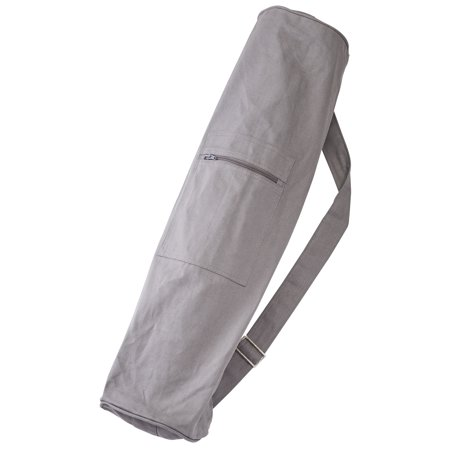 Sol Living Lightweight Organic Cotton Yoga Mat Carrier Eco-Friendly Yoga Mat Zipper Bag Grey
