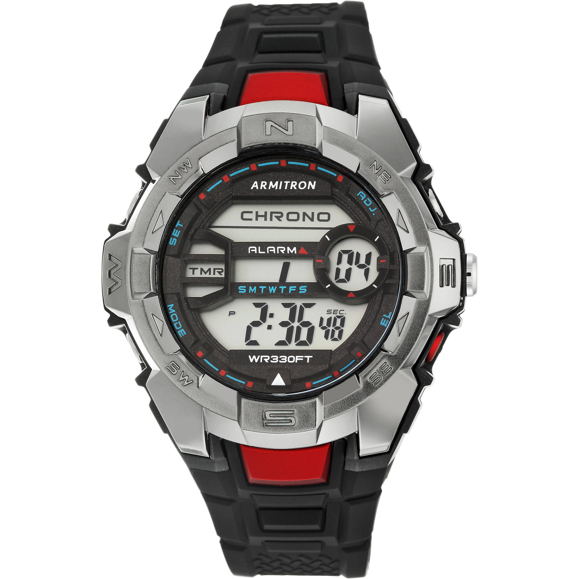 Armitron Mens Sport Red Round