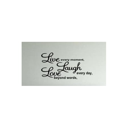 Live Laugh Love (W18) Wall Decal Vinyl Black & Words & Phrase Stickers Quote Word (Printable Halloween Word Wall Words)