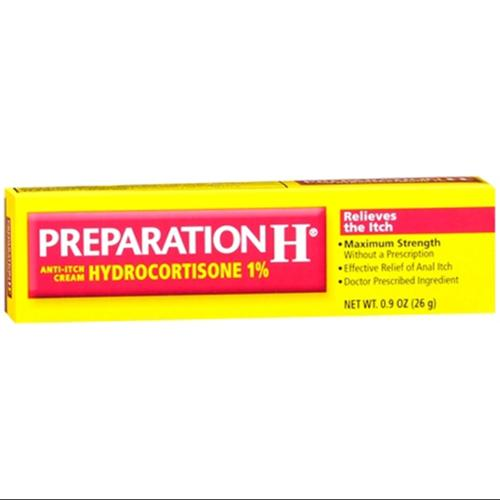 Preparation H Anti-Itch Cream Hydrocortisone 1% 0.90 oz (Pack of 3)