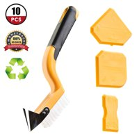 Caulking Tool Kit ,10 Pieces Silicone Sealant Finishing Tool Corner Angle Glass Scraper Caulk Remover and Caulk Nozzles for Bathroom Kitchen Room Floor Cleaning Tool Kit