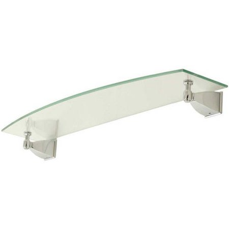 """Ginger 1834T-24/PC 24"""" Replacement Glass Shelf, Polished Chrome"""