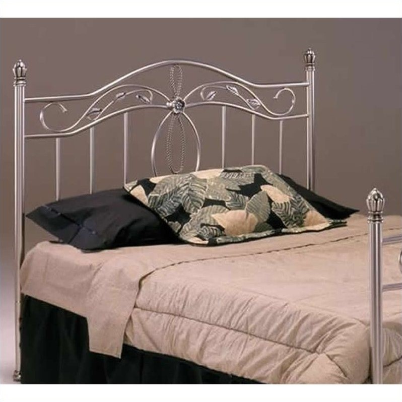 Bernards San Angelo Headboard in Nickel Finish