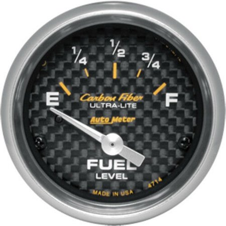 AutoMeter 4714 Carbon Fiber (TM) Gauge Fuel Level - image 1 of 2
