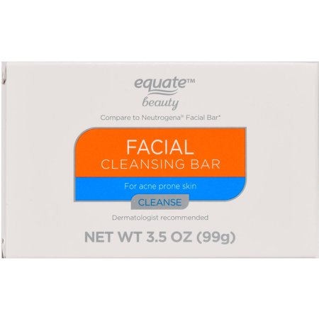 Equate Beauty Facial Cleansing Bar, For Acne Prone Skin, 3.5 oz