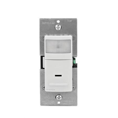 Leviton R02-IPV02-1LW 120V Light Almond 180° Vacancy Detector Universal Light -