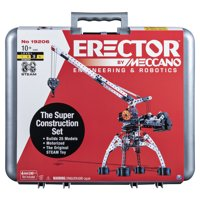 Erector by Meccano Super Construction 25-in-1 Motorized Building Set, STEAM Education Toy, 638 Parts, For Ages 10+ (Styles May Vary)
