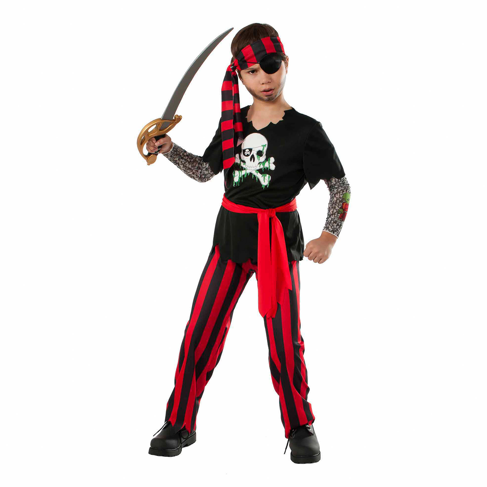 Tattooed Pirate Boy Halloween Costume by Rubie's Costume Company
