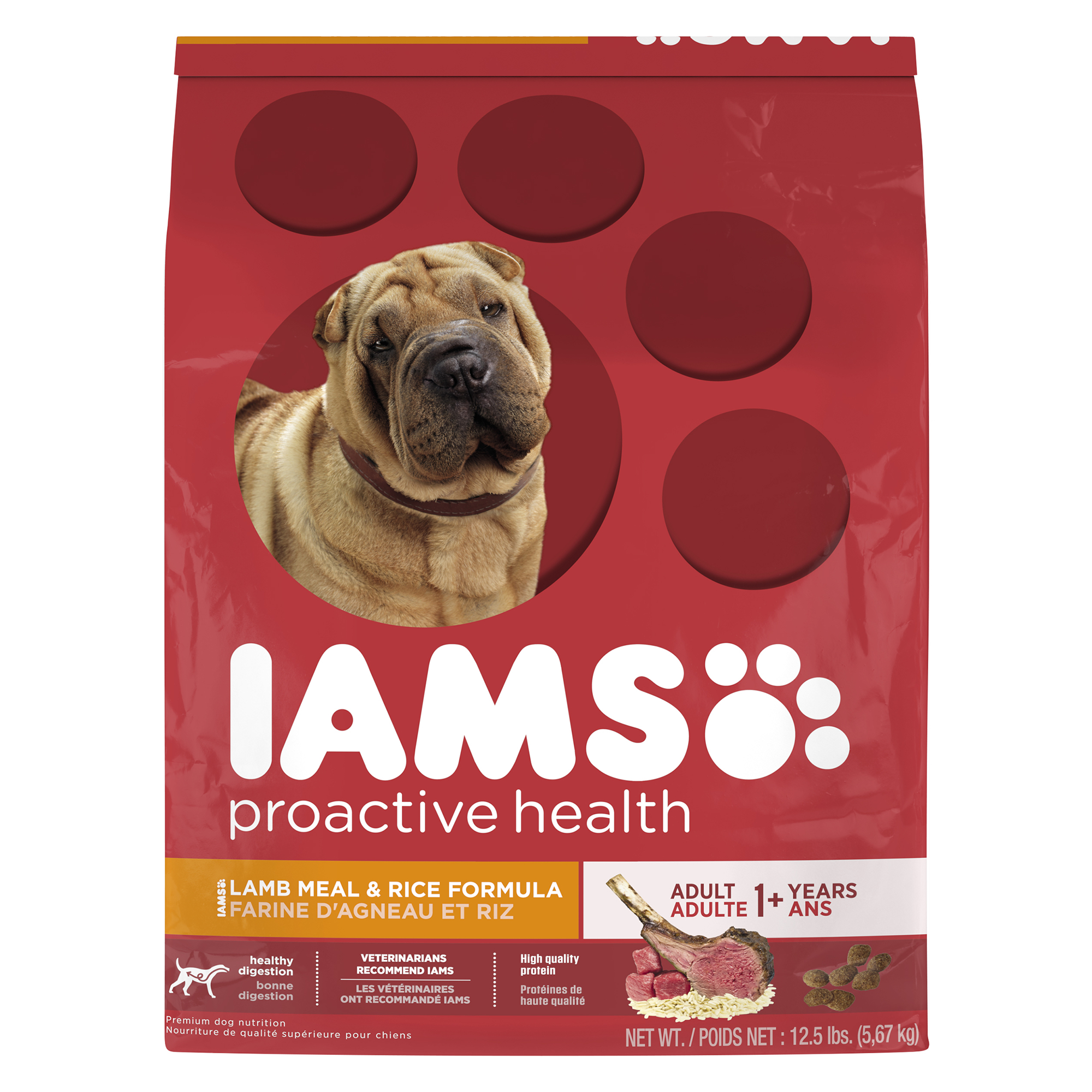 IAMS PROACTIVE HEALTH Adult Lamb Meal and Rice Dry Dog Food 12.5 Pounds