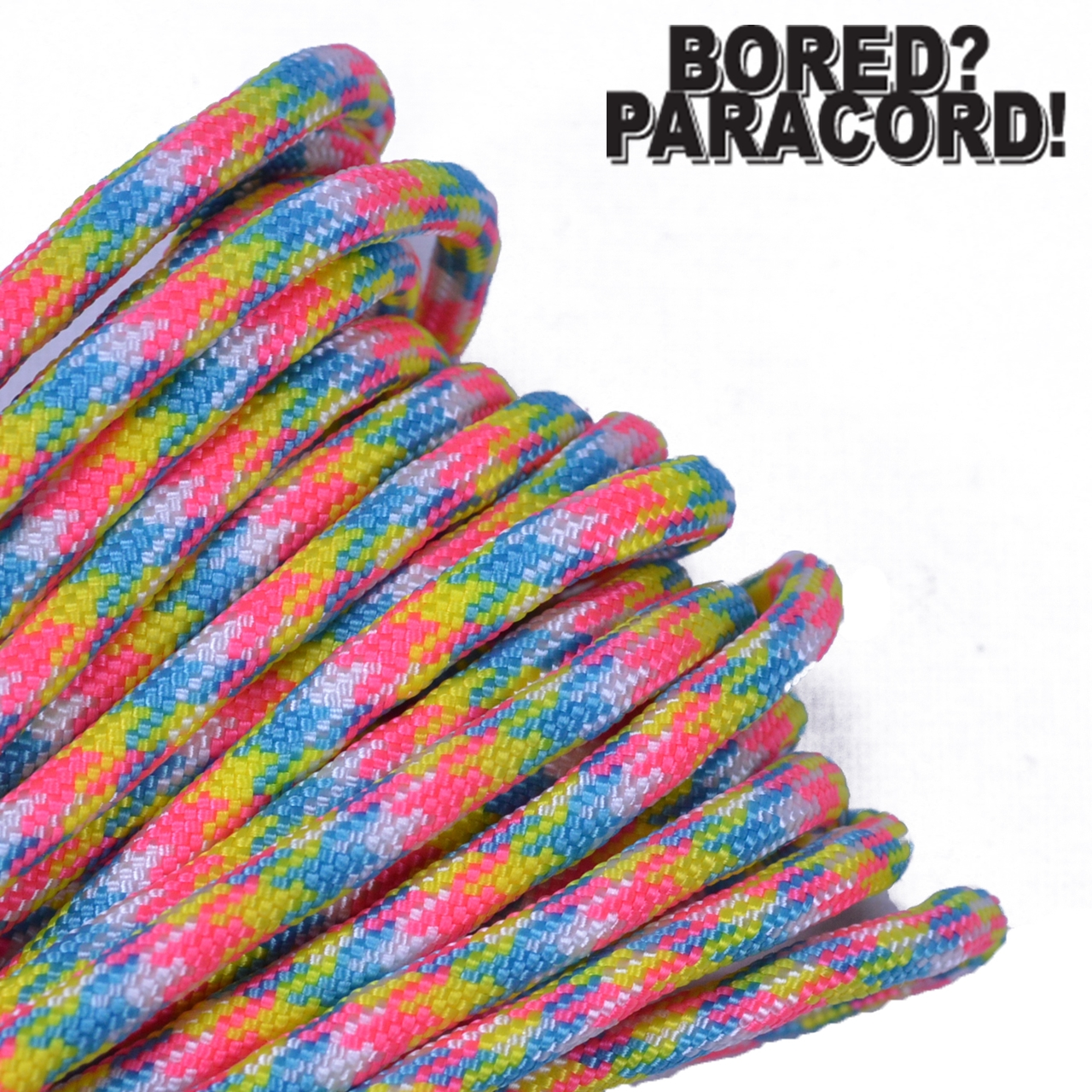 Bored Paracord Brand 550 lb Type III Paracord - Birthday Cake 100 Feet