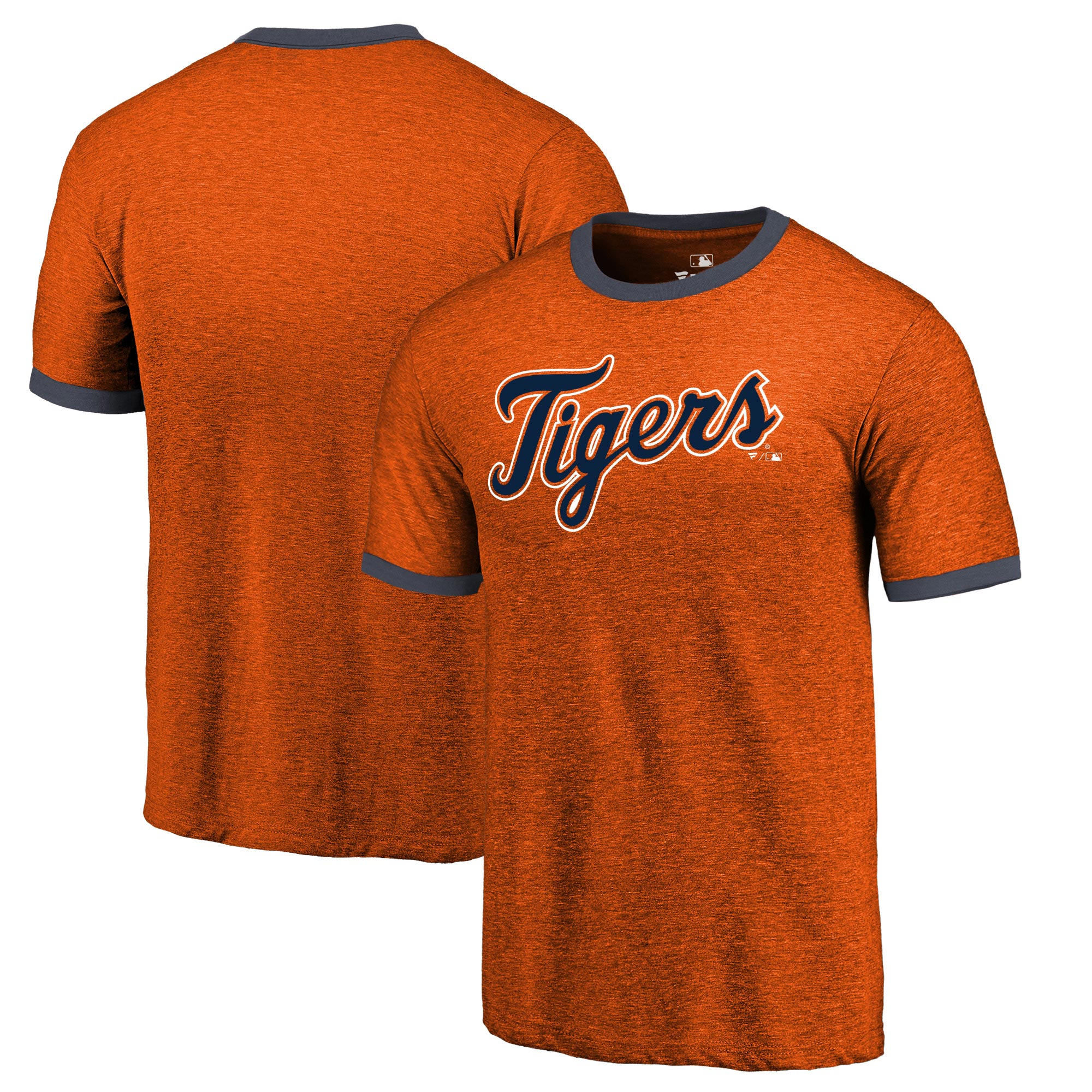 Detroit Tigers Fanatics Branded Refresh Ringer Team Wordmark T-Shirt - Orange