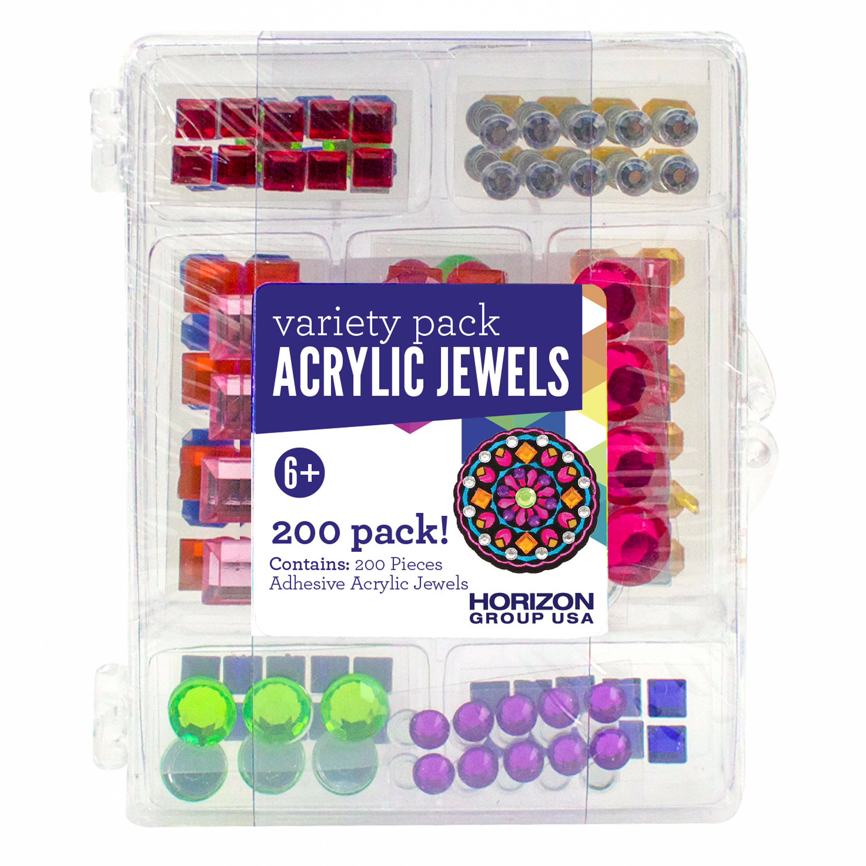 Adhesive Acrylic Jewels Value Pack by Horizon Group USA