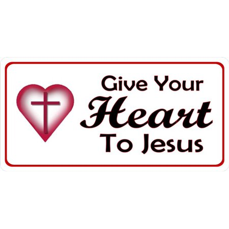 Give Your Heart To Jesus Photo License Plate - image 1 of 1