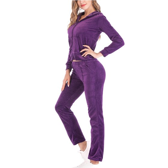 Lelinta Lelinta Womens Velour Tracksuit Sets Outfit