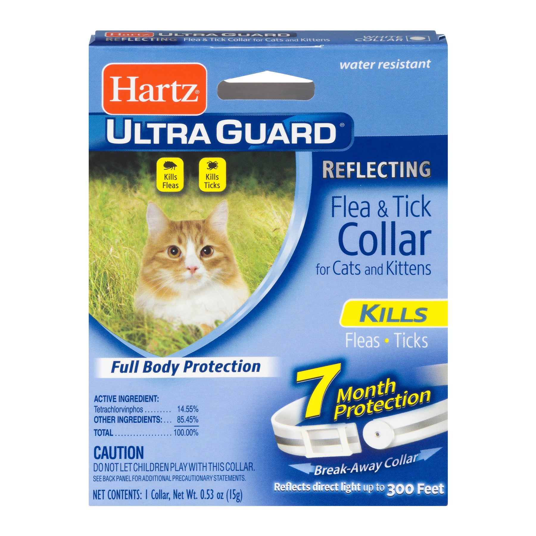 Hartz Ultra Guard Reflecting Flea & Tick Collar For Cats And Kittens, 0.53 OZ