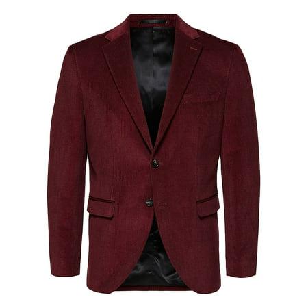 Notch Lapel Cotton-Blend Sportcoat