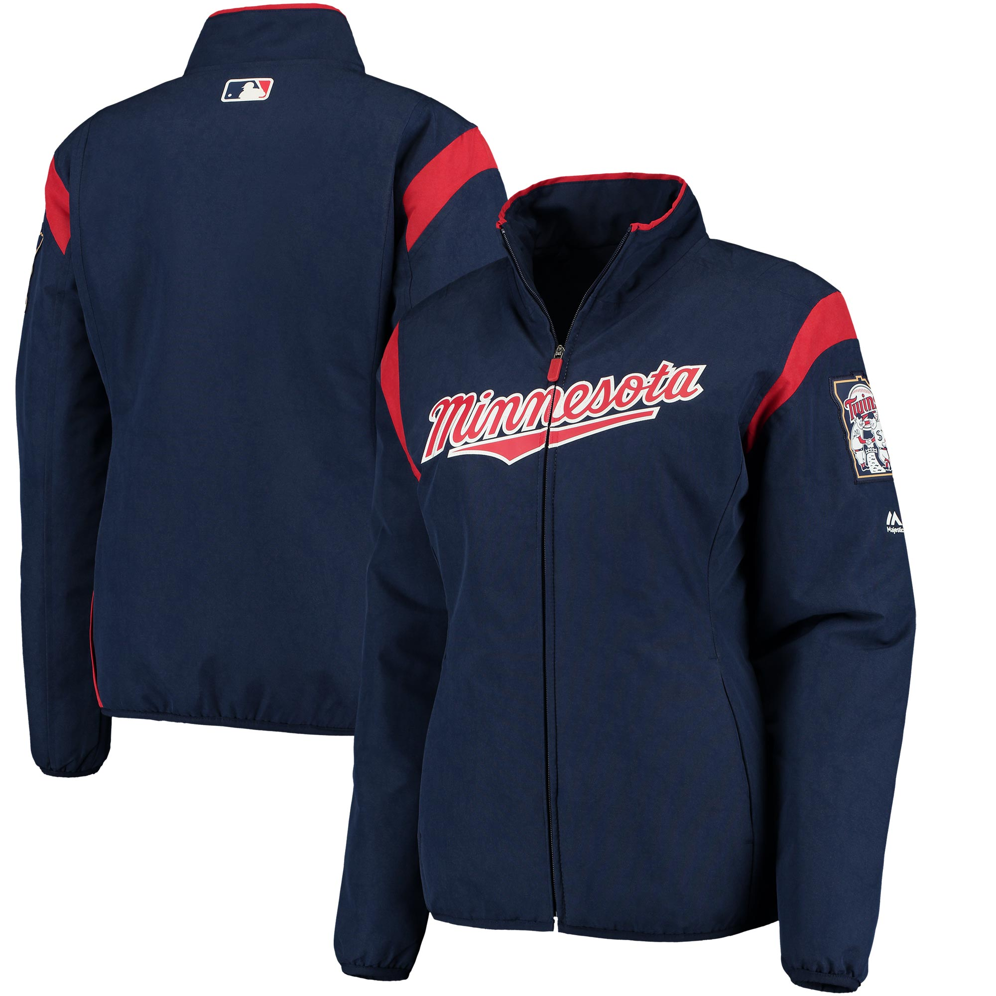 Minnesota Twins Majestic Women's On-Field Thermal Jacket - Navy