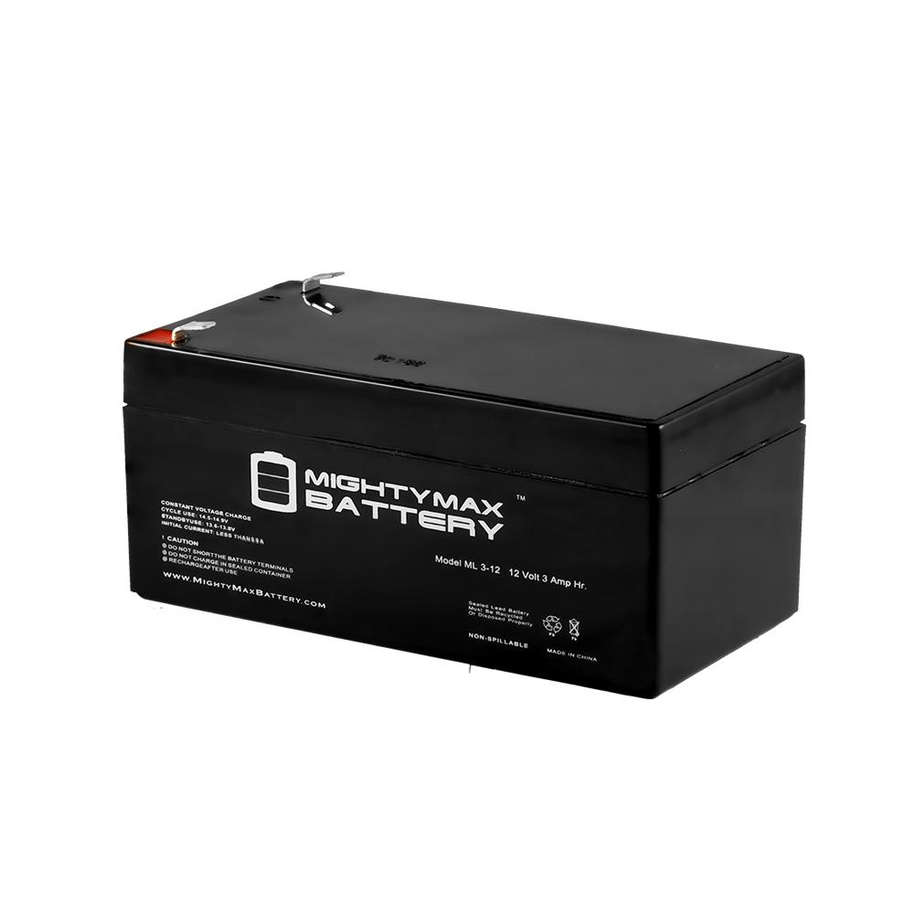 ML3-12 - 12V 3AH SLA Battery Replaces ES3-12 PW1203